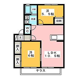 喜楽 B棟[1階]の間取り