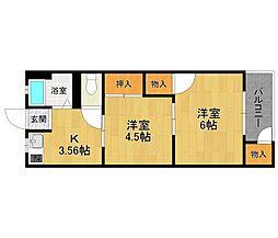 西伊丹マンション[2階]の間取り