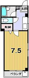 リヴェール大徳寺[305号室]の間取り