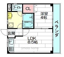 メゾン東栄豊南[4階]の間取り