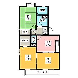 エクセレンス[2階]の間取り