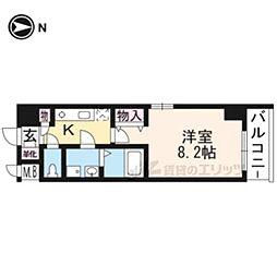 メゾン・トラスト京都梅小路公園 3階1Kの間取り