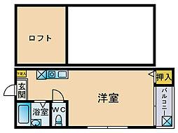 マキシム東比恵駅前[2階]の間取り