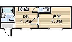 北畠ハイツUTS[2階]の間取り