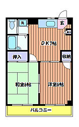 谷 マンション[2階]の間取り