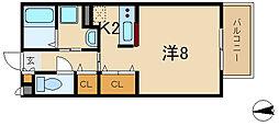 ヴィラ・エターナル[1階]の間取り