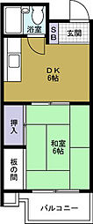 ハイム8848[3階]の間取り