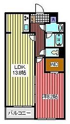 ガーデンテラス西川口[1階]の間取り