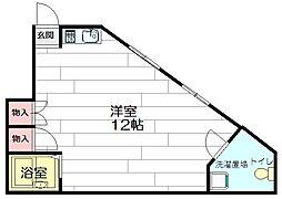 ドムス江坂[1階]の間取り