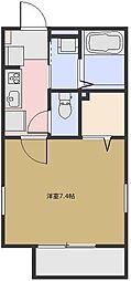 フラッツァ関[105号室号室]の間取り