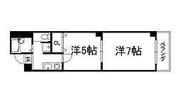 マッケンジー東堀川[302号室]の間取り