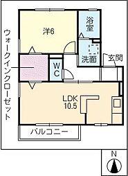 コゥジィーコート[2階]の間取り