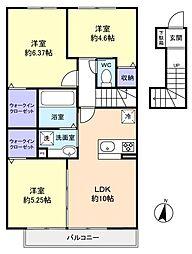 仮)レセンテ大和田新田[2階]の間取り