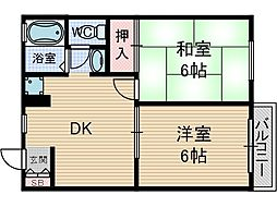 西田メゾン[2階]の間取り