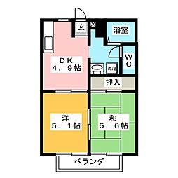 フレグランス 96[1階]の間取り