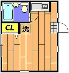 LIVE MUSASHI[201号室]の間取り