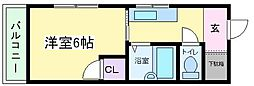 大阪府大阪市東住吉区矢田3丁目の賃貸マンションの間取り