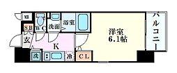 エスリード新大阪グランゲートノウス 2階1Kの間取り