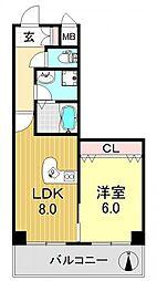 コーラルハイツ平野[2階]の間取り