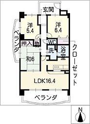 ジョイフル春日 弐号館[2階]の間取り