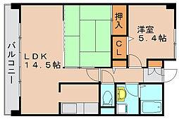 フェリーチェ原田2[4階]の間取り