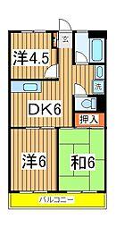 渋谷ビル[705号室]の間取り