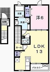 サニーハートII[2階]の間取り