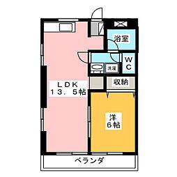 泉ハイツ45[2階]の間取り