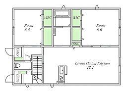 近鉄南大阪線 今川駅 徒歩7分の賃貸アパート 1階2LDKの間取り