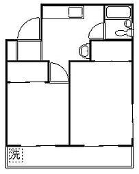 丸岡マンション[5階]の間取り