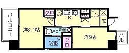 エステムプラザ福岡県庁前ネオシス[7階]の間取り