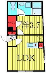 THE RESIDENCE tosima-chihaya 2階1LDKの間取り