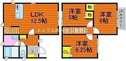[一戸建] 岡山県倉敷市中帯江丁目なし の賃貸【/】の間取り