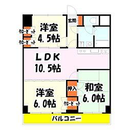 竹の塚ロジュマン[3階]の間取り