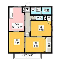 井の上アパートII[2階]の間取り