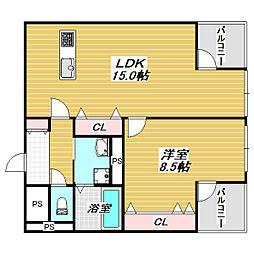 コーポモントレー[2階]の間取り