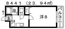 サンハイツ開[203号室号室]の間取り