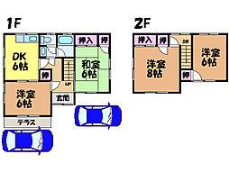 [一戸建] 愛媛県松山市居相4丁目 の賃貸【/】の間取り