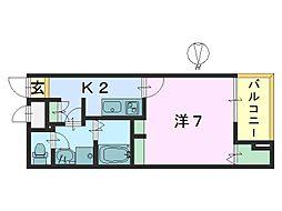 カーサ・ドマーニ2[1階]の間取り