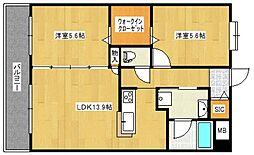 ブランシュール弐番館[2階]の間取り