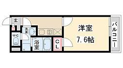 兵庫県伊丹市南本町4丁目の賃貸アパートの間取り