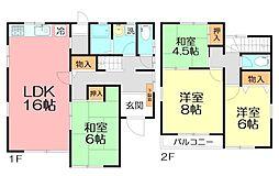 [一戸建] 神奈川県横浜市栄区公田町 の賃貸【/】の間取り