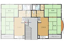 ハウス1114[201号室]の間取り