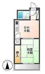 クレストYS千代田[7階]の間取り