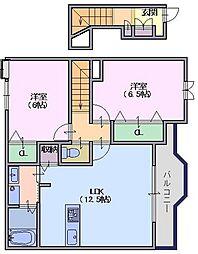 ソレイユ(東井戸堂)[2階]の間取り