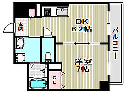 大阪府堺市北区蔵前町2丁の賃貸マンションの間取り