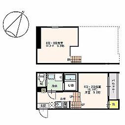 福岡県福岡市博多区吉塚5丁目の賃貸アパートの間取り
