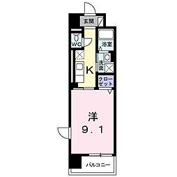 メゾン フォルテ[4階]の間取り