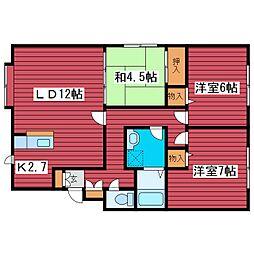 パークハイム西岡II[2階]の間取り