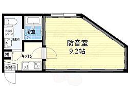 コンポジット荻窪ラシクラス 4階1Kの間取り